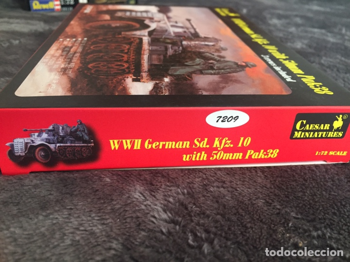 Maquetas: Sd.Kfz. 10 50mm PAK 38 1:72 Caesar Miniatures 7209 maqueta carro diorama - Foto 3 - 153896870