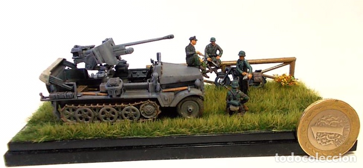 Maquetas: Sd.Kfz. 10 50mm PAK 38 1:72 Caesar Miniatures 7209 maqueta carro diorama - Foto 9 - 153896870