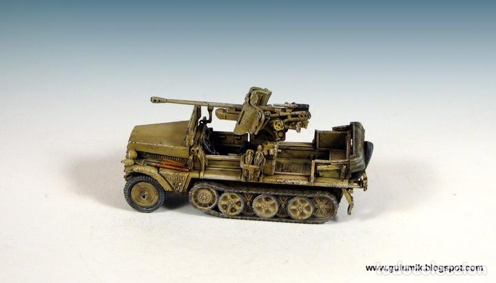 Maquetas: Sd.Kfz. 10 50mm PAK 38 1:72 Caesar Miniatures 7209 maqueta carro diorama - Foto 11 - 153896870