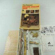 Maquetas: KIT DE MODELISMO ARTESANIA LATINA THE CONCORD STAGE COACH 1848 REF.16004 AÑO 1986. Lote 153951910