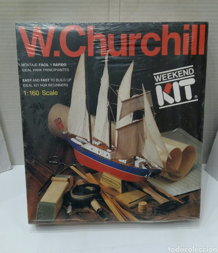 BARCO W. CHURCHILL.ARTESANÍA LATINA.NUEVO.PRECINTADO.COMPLETO.ESCALA 1 : 160.REF 17001.1990.KIT. (Juguetes - Modelismo y Radiocontrol - Maquetas - Barcos)