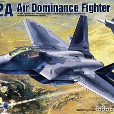Maquetas: MAQUETA 1/48 - F-22A AIR DOMINANCE FIGHTER ACADEMY - NR. 12212 - 1:48. Lote 154628326