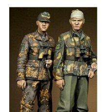 Maquetas: WWII GERMAN SOLDIER NORMANDIE 2 FIGURAS 1/35 RESINA ACCESORIOS PARA DIORAMA A-215. Lote 154713966