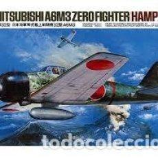 Maquetas: TAMIYA - MITSUBISHI A6M3 ZERO FIGHTER HAMP 1/48 61025. Lote 154936438