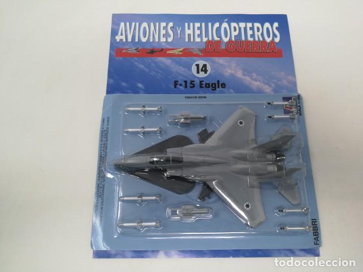 F-15 EAGLE. ITALERI ESCALA 1/100. NUEVO EN BLISTER CON FASCICULO FICHAS AVIONES Y HELICÓPTEROS (Juguetes - Modelismo y Radio Control - Maquetas - Aviones y Helicópteros)