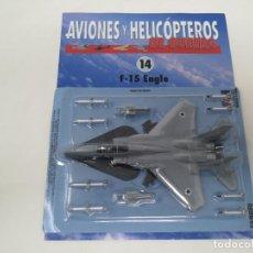 Maquetas: F-15 EAGLE. ITALERI ESCALA 1/100. NUEVO EN BLISTER CON FASCICULO FICHAS AVIONES Y HELICÓPTEROS. Lote 155243522