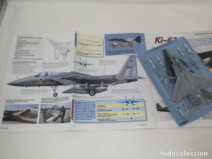 Maquetas: F-15 Eagle. Italeri escala 1/100. Nuevo en blister con fasciculo fichas Aviones y helicópteros - Foto 2 - 221943491