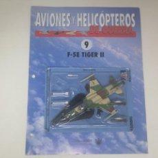 Maquetas: F-5E TIGER II ITALERI ESCALA 1/100. NUEVO EN BLISTER CON FASCICULO FICHAS AVIONES Y HELICÓPTEROS. Lote 155271954