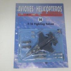 Maquetas: F 16 FALCON ITALERI ESCALA 1/100. NUEVO EN BLISTER CON FASCICULO FICHAS AVIONES Y HELICÓPTEROS. Lote 155272406