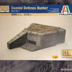 Maquetas: COASTAL DEFENCE BUNKER 1:72 ITALERI 6085 MAQUETA DIORAMA WARGAMES. Lote 155712158