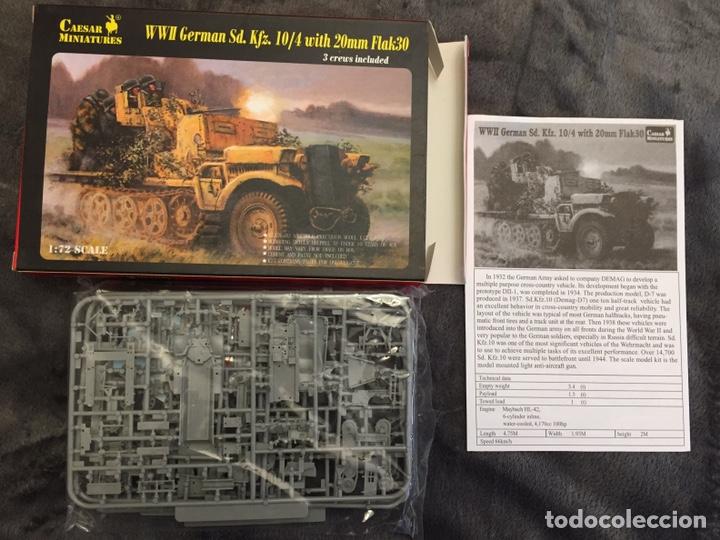 Maquetas: Sd.Kfz. 10/4 Flak.30 1:72 CAESAR MINIATURES 7208 maqueta carro antiaéreo diorama - Foto 2 - 155835996