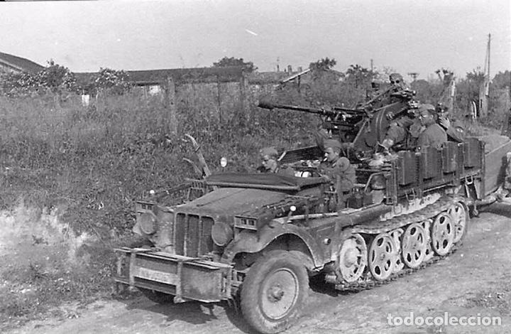 Maquetas: Sd.Kfz. 10/4 Flak.30 1:72 CAESAR MINIATURES 7208 maqueta carro antiaéreo diorama - Foto 5 - 155835996
