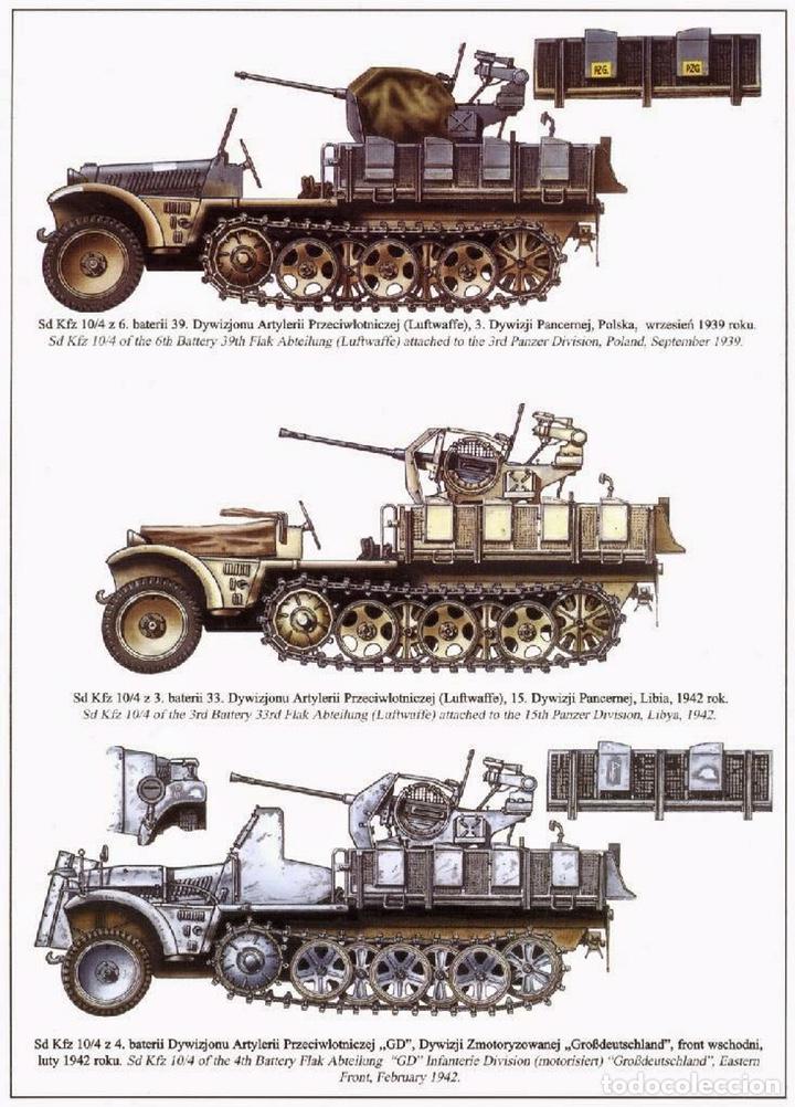 Maquetas: Sd.Kfz. 10/4 Flak.30 1:72 CAESAR MINIATURES 7208 maqueta carro antiaéreo diorama - Foto 6 - 155835996