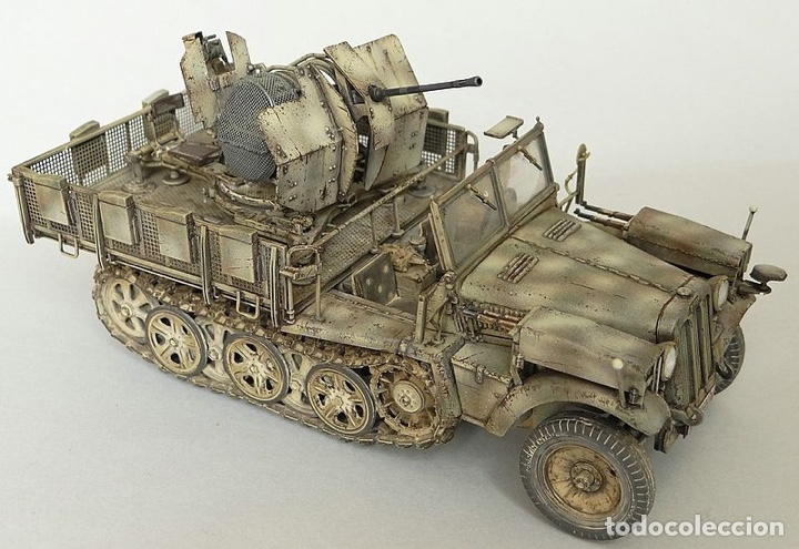 Maquetas: Sd.Kfz. 10/4 Flak.30 1:72 CAESAR MINIATURES 7208 maqueta carro antiaéreo diorama - Foto 7 - 155835996