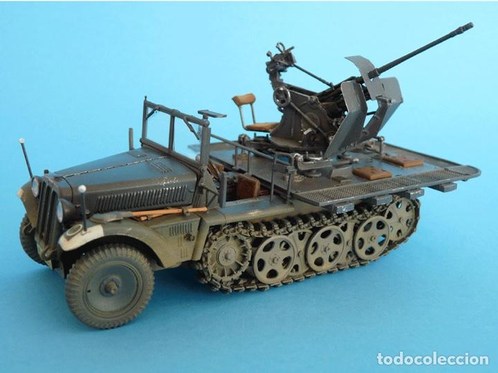 Maquetas: Sd.Kfz. 10/4 Flak.30 1:72 CAESAR MINIATURES 7208 maqueta carro antiaéreo diorama - Foto 8 - 155835996