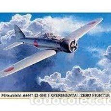Maquetas: HASEGAWA - MITSUBISHI A6M1 12-SHI EXPERIMENTAL ZERO FIGHTER 1/48 09840 . Lote 156010962