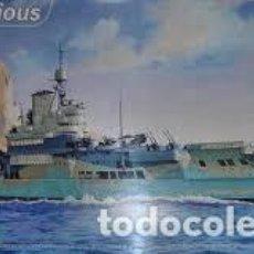 Maquetas: HELLER - HMS ILLUSTRIOUS 1/400 81089. Lote 156856870