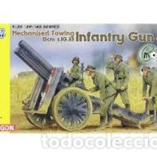 Maquetas: DRAGON - MECHANISED TOWING 15CM S.1G.33 INFANTRY GUN W/CREW 1/35 6261. Lote 156890650