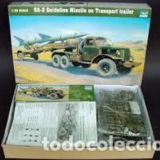 Maquetas: TRUMPETER - SA-2 GUIDELINE MISSILE ON TRANSPORT TRAILER 1/35 00204. Lote 156894886
