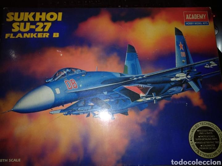 SUKHOI SU-27 FLANKER B. ESCALA 1/48TH. DE ACADEMY HOBBY MODEL KITS. (Juguetes - Modelismo y Radio Control - Maquetas - Aviones y Helicópteros)