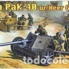 Maquetas: DRAGON - 7.5CM PAK 40 W/HEER GUN CREW 1/35 6249 . Lote 157198030