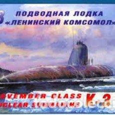 Maquetas: ZVEZDA - NOVEMBER CLASS NUCLEAR SUBMARINE K3 1/350 9035. Lote 157201234