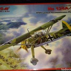 Maquetas: HENSCHEL HS 126A-1 WWII GERMAN RECONNAISSANCE PLANE. MAQUETA.. Lote 157253012