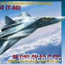 Maquetas: ZVEZDA - RUSSIAN FIFTH-GENERACION FIGHTER SUKHOI SU-50 1/72 7275. Lote 157297214