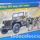 Maquetas: ITALERI - WILLYS MB JEEP WITH TRAILER 1/35 314. Lote 158337642
