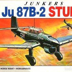 Maquetas: MAQUETA DEL BOMBARDERO EN PICADO JUNKERS JU 87B-2 ·STUKA DE AIRFIX A 1/72 (SEMIVINTAGE). Lote 158531662