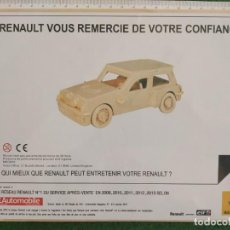 Maquetas: RENAULT 5 GT TURBO - L'AUTOMOBILE FRANCIA. Lote 159688046