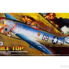 Maquetas: MAQUETA DEL CAZA NORTEAMERICANO REPUBLIC P-47D THUNDERBOLT BUBBLE TOP DE ACADEMY A 1/72. Lote 160353130