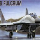 Maquetas: MAQUETA DEL CAZA RUSO MIKOYAN GUREVICH MIG-29 FULCRUM DE ACADEMY A ESCALA 1/144. Lote 160354074