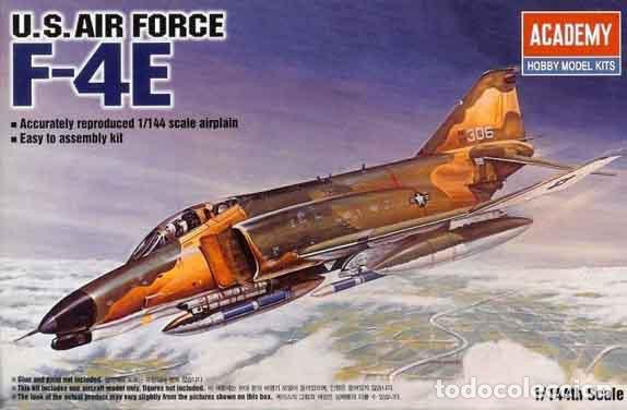 MAQUETA DEL CAZABOMBARDERO MCDONNELL F-4E PHANTOM II DE ACADEMY A ESCALA 1/144 (Juguetes - Modelismo y Radio Control - Maquetas - Aviones y Helicópteros)