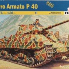 Maquetas: MAQUETA CARRO CARRO ARMATO P 40, REF. 6476, 1/35, ITALERI. Lote 160396414