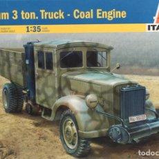 Maquettes: MAQUETA CAMIÓN 3 TON. – COAL ENGINE, REF. 6457, 1/35, ITALERI. Lote 160397198