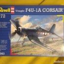 Maquetas: F4U-1A CORSAIR 1:72 REVELL MAQUETA AVIÓN. Lote 160428778