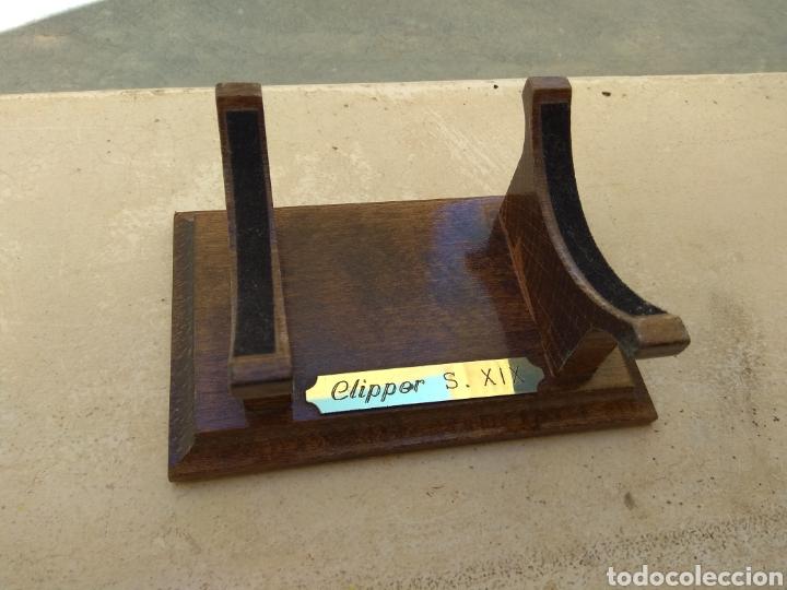 Maquetas: Peana de Madera para Maqueta de Barco Clipper XIX - Foto 2 - 176760634