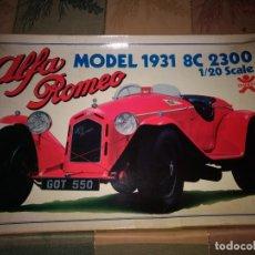 Maquettes: ALFA ROMEO 1931 8C 1/20 BANDAI 5357 MAQUETA VEHÍCULO COCHE DEPORTIVO MADE JAPAN. Lote 160844042