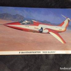 Maquetas: F-104 STARFIGHTER RED BARÓN 1:48 HASEGAWA MAQUETA AVIÓN EJÉRCITO DEL AIRE. Lote 160874284