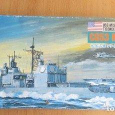 Maquetas: USS MISSILE CRUISER TICONDEROSA - CG53 MOBILE BAY CON CAJA A ESTRENAR ESCALA 1:700 JAPAN. Lote 160948354