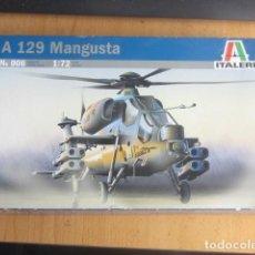 Maquetas: A-129 MANGUSTA REF 006 CAJA PRECINTADO FABRICANTE ITALERI ,ESCALA 1/72 , KIT PARA MONTA. Lote 160952314