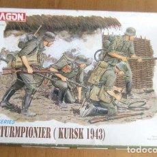 Maquetas: DRAGON - GERMAN STURMPIONIER (KURSK 1943) 1/35 CON CAJA PRECINTADO. Lote 160953754