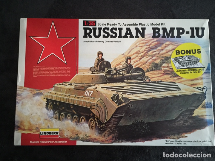 RUSSIAN BMP-1U 1:35 LINDBERG 76003 MAQUETA CARRO (Juguetes - Modelismo y Radiocontrol - Maquetas - Militar)