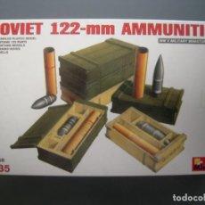 Maquetas: SOVIET 122 MM AMMUNITION 1/35 MINIART. Lote 161384202