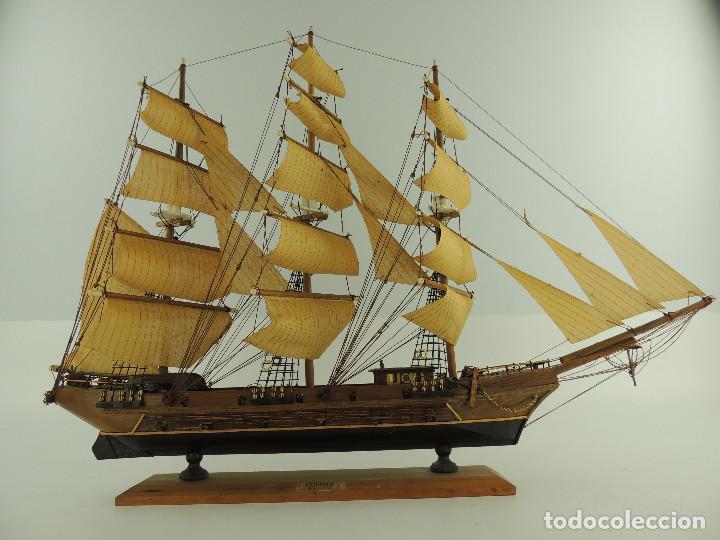 Maquetas: PRECIOSA maqueta de madera barco fragata siglo XVIII pieza de coleccion - Foto 3 - 161685826