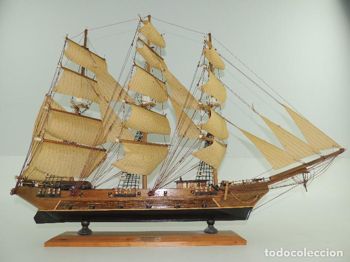 Maquetas: PRECIOSA maqueta de madera barco fragata siglo XVIII pieza de coleccion - Foto 4 - 161685826