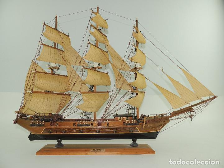 Maquetas: PRECIOSA maqueta de madera barco fragata siglo XVIII pieza de coleccion - Foto 5 - 161685826
