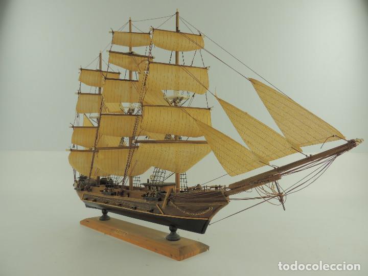 Maquetas: PRECIOSA maqueta de madera barco fragata siglo XVIII pieza de coleccion - Foto 6 - 161685826