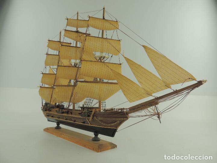 Maquetas: PRECIOSA maqueta de madera barco fragata siglo XVIII pieza de coleccion - Foto 7 - 161685826